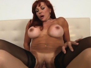 Horny pussy of mature honey gets incredible cock insertions