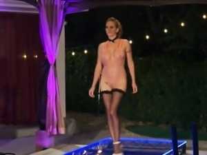 Black cougar fucked after hosting a catwalk lingerie show