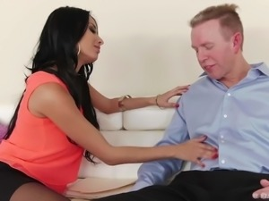 Raven haired French woman Anissa Kate is a true beauty. She kisses a guy can...