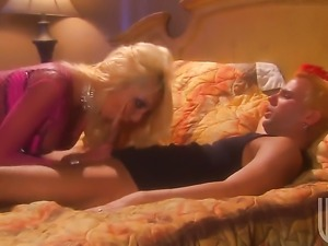 Hot bodied temptress Donna Doll and hot blooded guy have oral sex for camera...