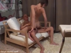 two cute young boby in blowjob and anal