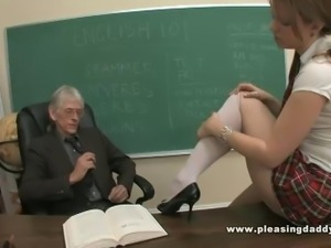 Schoolgirl Wants To Pass The Class