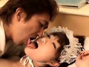 Asian maid serves her boss with a banging