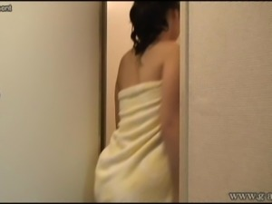 Japanese girls room to peep for 24h. Her naked and shower.