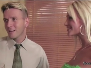 Hot MILF not mother Seduce Friend of her not son to Fuck