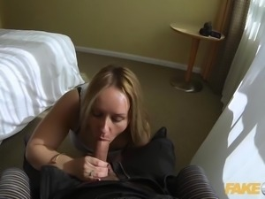Fake Cop Curvy slut bounces on cops cock