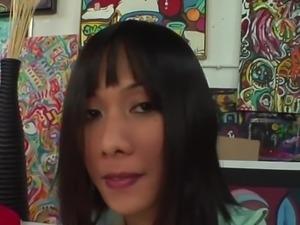 Cute asian girl gets fucked hard