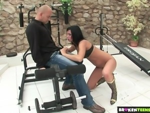 BrokenTeens - Teen Fucked In the Gym