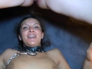 couple fucks, female friend sucks cum out of pussy