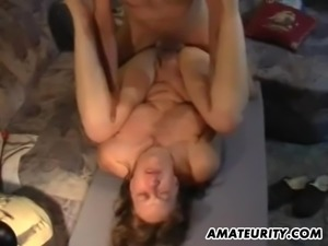 Amateur Milf toyed and fucked hard with cumshot