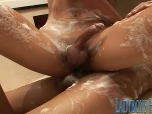 Thailand Ladyboy Soapy Massage
