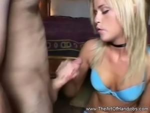 Handjob In Her Bedroom