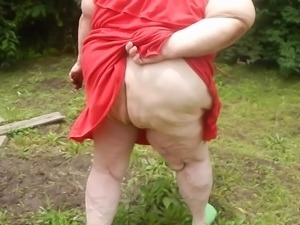 red dress outside