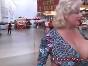 Chubby Claudia Marie Huge Fake Tits Destroyed