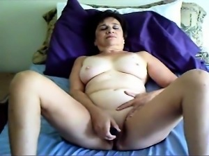 Chubby wife is home alone and decides to knock one off with