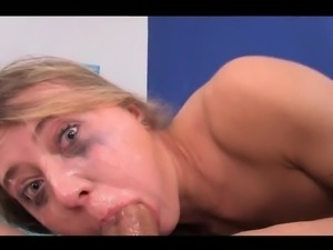 dirty euro slut gets anal gape fucked and deep throated