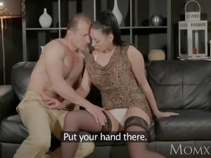 MOM Big tits Russian Milf squirts and fucks