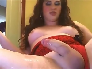 Most Hot Tranny Masturbating & cumshot scene