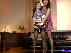 Stockings milf pussylicking glamour lesbian