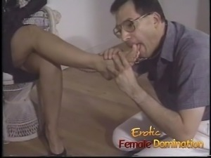 Dominant milf tricks a pizza boy into being her sex slave