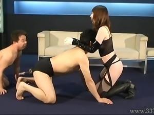 Japanese femdom threesome