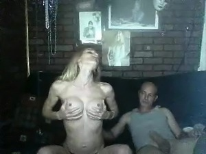 Stunning blonde amateur peels off her clothes and worships
