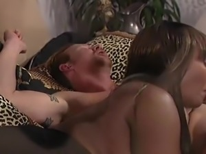 Interracial Threesome - White couple and Hot Ebony