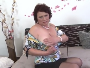 Busty mother suck and fuck not her son