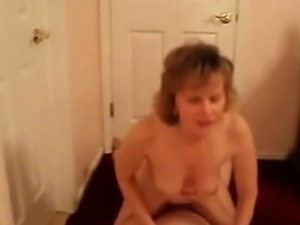 Mature couple fucking on a floor of the house that is new