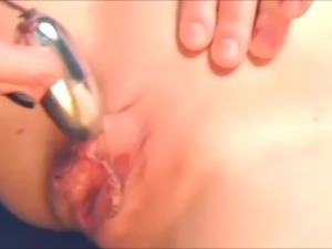 Huge Clit - teases with Egg