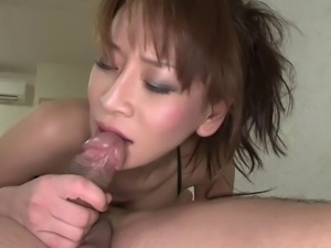 Busty Asian babe get her pussy teased and then fucked