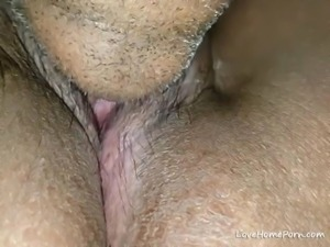 Closeup of me eating a really wet pussy