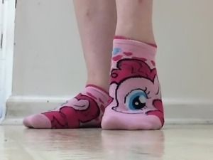 Cute socks and toes.