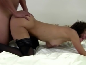 Mature mother with hairy cunt gets hard cock