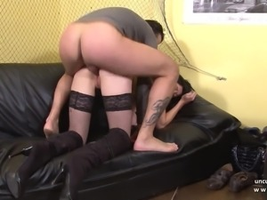 French babe Kenza Suck hard banged for her casting couch
