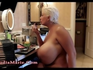 Claudia Marie Giant Saggy Fake Tits & Huge Fat Ass
