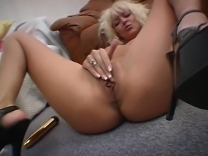 Danish blond teasing and playing - Martine