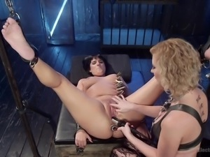Blonde milf Cherry Torn always dominates her sex partners and Rose Rhapsody...