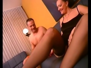 German milf  sexy feet  footjob