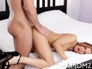 Lusty mom receives wild and sits down on jock for a ride