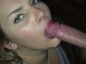 She works the cock real good