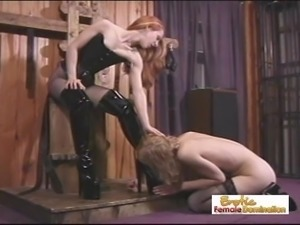 Angry Mistress Tortures Her Slave For Disobed