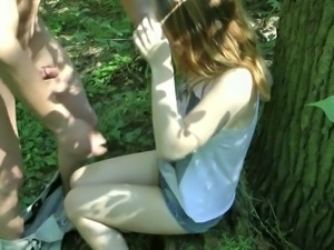hot german amateur blonde outdoor creampie