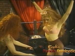 Crossdresser enjoys a very painful flogging