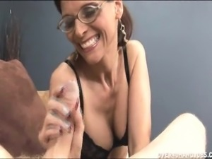 Cum starving milf with big hooters delivers a great blowjob POV style