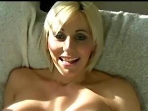 Beautiful pregnant blonde striptease