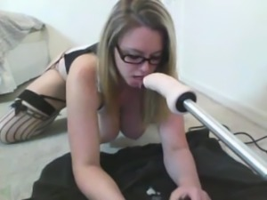 sexy nerd throating machinery