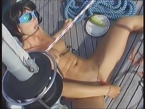 Josy on the boat
