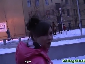 College teen arrives at wild dorm fuckfest