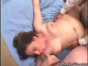 BBW In A 3some Get A Mouthful Of Cum